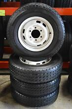 4 SET RIMS AND TYRES HILUX 195/R14 + LIGHT TRUCK + BRIDGESTONE Virginia Brisbane North East Preview