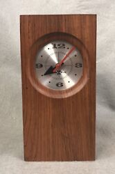 Arthur Umanoff Howard Miller Rosewood Desk Clock Model  636 Nelson MCM
