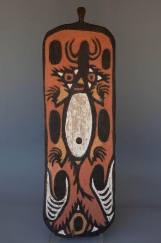 "LARGE 36"" PAPUA NEW GUINEA WOODEN TRIBAL ETHNIC SPIRIT BOARD MASK ART"