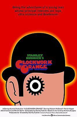 """A Clockwork Orange Movie Silk Fabric Poster 11""""X17"""" Stanley Kubrick"""