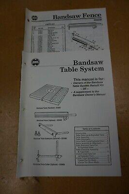 Shopsmith Mark V Bandsaw Table System Fence Manual Free Shipping