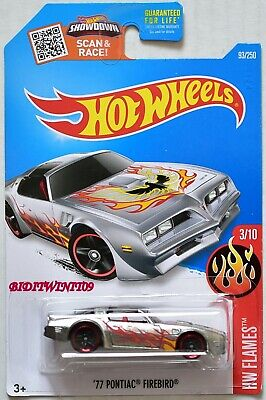 HOT WHEELS 2016 HW FLAMES '77 PONTIAC FIREBIRD #3/10 ZAMAC