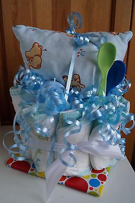 """Windeltorte """" Mini """" Junge Babyparty Taufe Geschenk zur Geburt"""