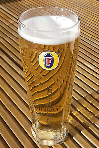Fosters Lager The New Glass Is Here. X 1 Pint. .