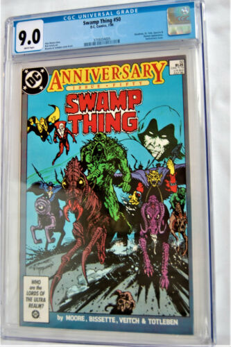 SWAMP THING #50***CGC GRADE 9.0 VF/NM***CRISIS CROSS OVER***SCRIPT BY ALAN MOORE