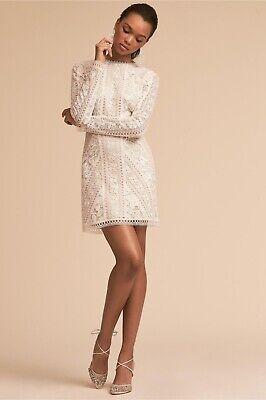 Tadashi Shoji BHLDN Cason Floral Lace Mini Dress Longsleeve Size 4 NWT