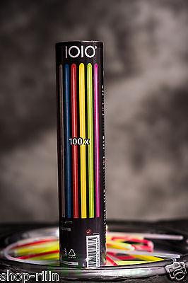 100 Knicklichter Leuchtstäbe 7Farben Mix mit Armband Verschluss Glowsticks Party