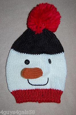 Womens Winter Knit Critter Hat SNOWMAN Stuffed Carrot Nose POM POM (Pom Pom Critters)