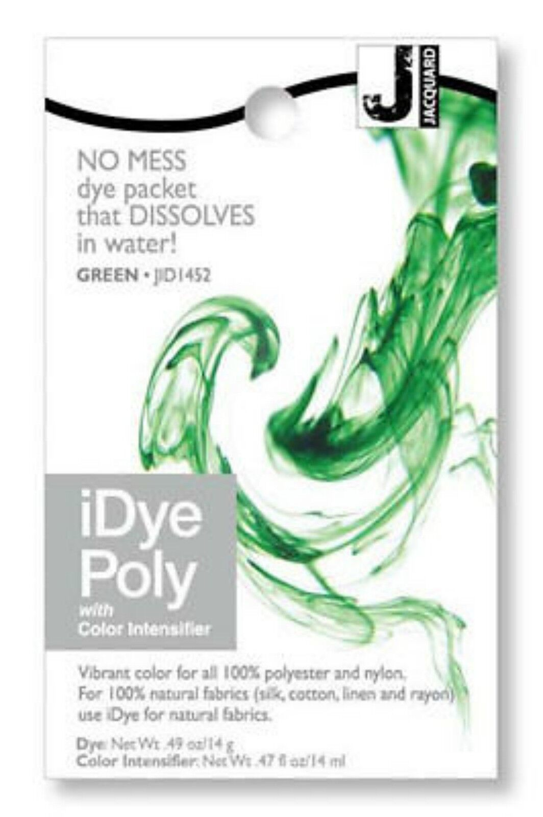 Jacquard iDye Fabric Dye Poly Nylon 14g Green