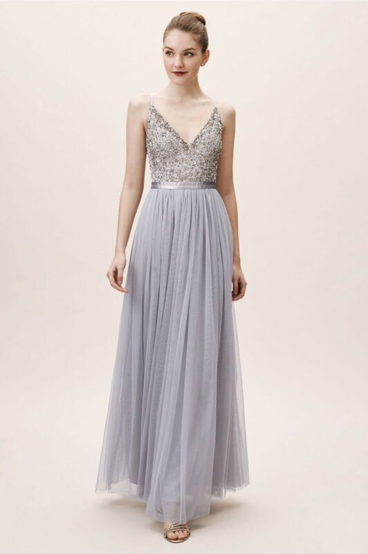 BHLDN Avery Formal Gown, Size 2, Color: Lavender Grey
