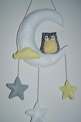 Owl nursery room decor wall decor White Moon and stars,shower new various - Moon And Stars Baby Shower Decorations