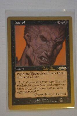 Magic the Gathering Hatred Gold Border World Championship Card