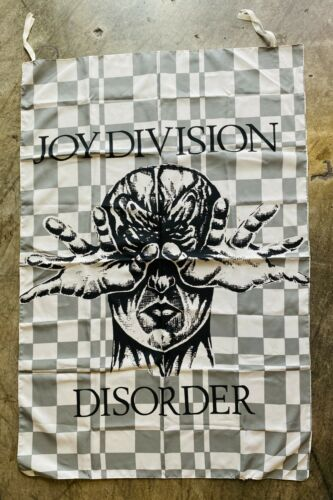 Vtg JOY DIVISION Rare DISORDER Original Cloth Banner Flag Dark Wave Vintage