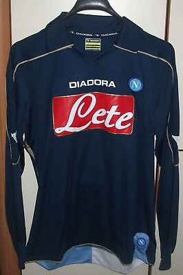 Napoli 2008 - 2009 Third football shirt jersey Maglia diadora size S long sleeve for sale  Shipping to Canada