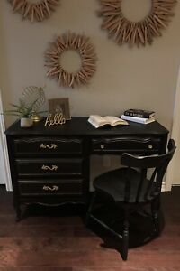 French Provincial Desk with Matching Chair