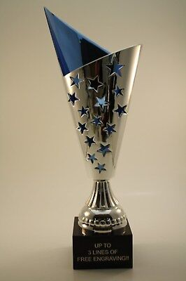 LARGE TROPHY CUP!  FREE ENGRAVING!  SHIPS IN 1 BUSINESS DAY!!
