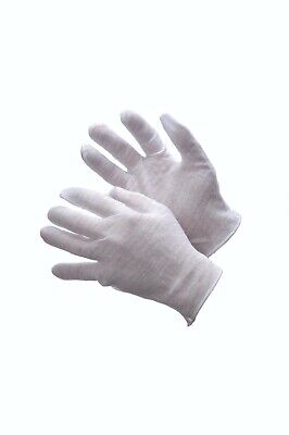 12 Pairs Light Weight 100 Cotton Lisle Coin Silver Jewelry Inspection Gloves