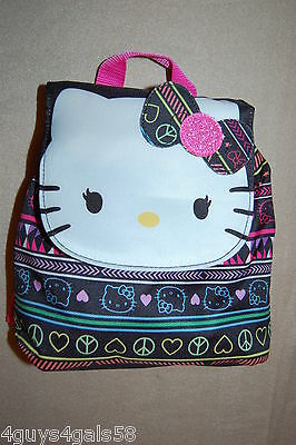 HELLO KITTY BACKPACK Black Pink Multi Color