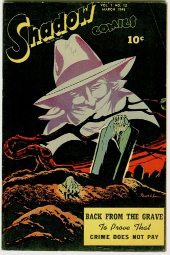 The Shadow V.7 #12 FN+ Horror cover.