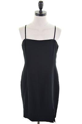 JONES NEW YORK Womens Slip Dress US 12 XL Black Polyester  AN06