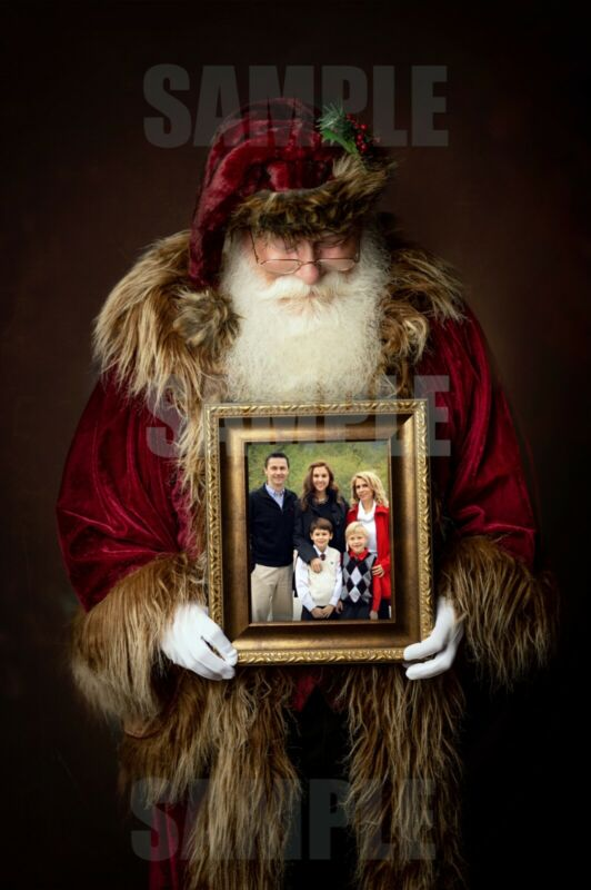 Digital Santa Claus Holiday Photo *custom made with your photo