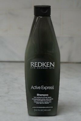 - 10.1 oz. Redken Active Express Fast Acting Shampoo All Hair Types. 300ml.