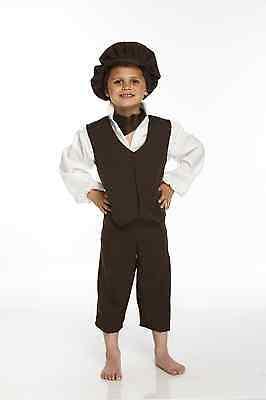 Viktorianischer Junge Oliver Twist Bengel Kamin Wechsel Kostüm Alter 7-9yo - Oliver Twist Kostüm
