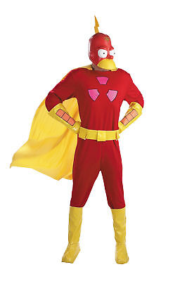 Radioactive Man The Simpsons Adult Costume Body Jumpsuit Halloween Disguise (Radioactive Man Costume)