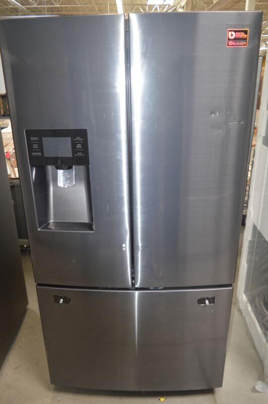 Samsung 24.6 Cu. Ft. French Door Refrigerator Black Stainless RF263BEAESG