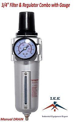 """3/4"""" Air Compressor Regulator & Filter In Line Combo w/ Gauge Compressor FR726N"""
