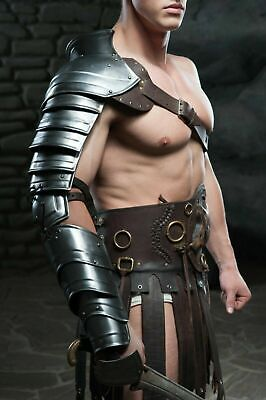 Spartacus Gladiator Armor (Medieval Metal sleeve shoulder arm armor for Spartacus cosplay gladiator)