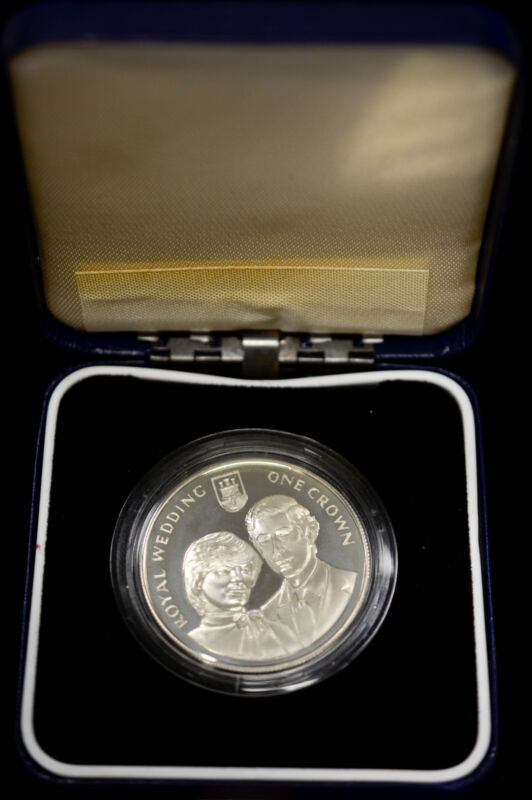 Gibraltar 1 Crown 1981 Superb Gem Proof silver Wedding Prince Charles Lady Diana