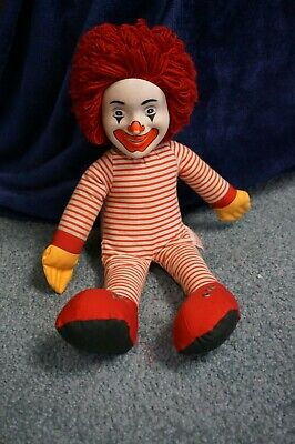 VINTAGE COLLECTIBLE RONALD McDONALD SOFT DOLL WITHOUT CLOTHES USED