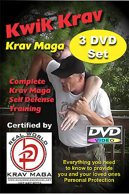 """KRAV MAGA 3 Disk"" Self Defense Series for those with No Time to Train DVD"