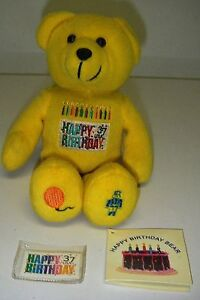 USPS Stamp Collection Series PLUSH 2002 Timeless Toys 37c Happy Birthday Bear.