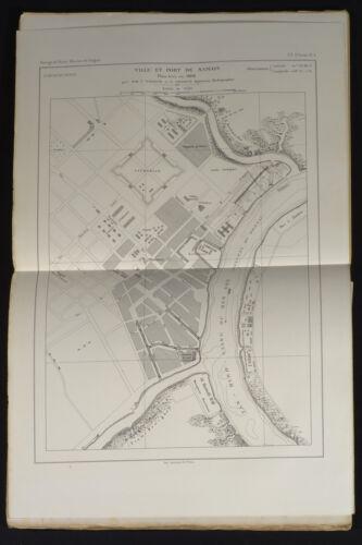 1864 map Saigon/Ho Chi Minh City Vidalin Heraud French survey Sorrieu print