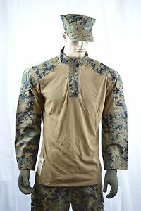 USMC-Marpat-Digital-Frog-Shirt-Woodland-Camo-Size-Medium-Long