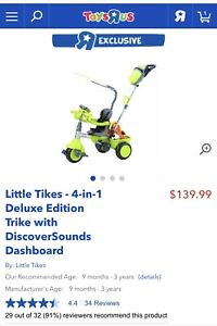 Little tikes tricycle- tricycle à bicyclette