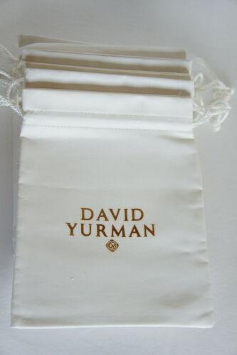 Authentic David YURMAN White Leatherette LARGE Cable Necklace Dust Bag Pouch
