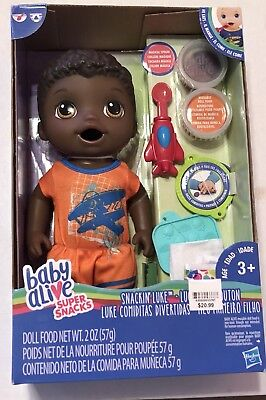 Baby Alive Super Snacks Snackin' Luke African American Boy Doll for sale  Clifton