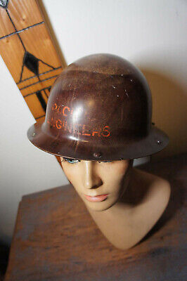 Vintage Msa Skullgard Pacific Engineers Hard Hat Mine Safety Helmet Cap Logger