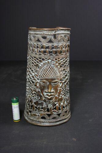 African BENIN Bronze Ancestor Bracelet, NIgeria TRIBAL ART PRIMITIVE