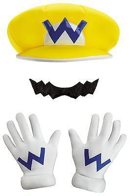 Kinder Super Mario Offiziell Hut Schnurrbart & Handschuh Kostüm Set Dg98842ch