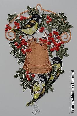 PLAUENER SPITZE ® Fensterbild WEIHNACHTEN Winter VOGELHAUS Futterhaus VÖGEL Deko