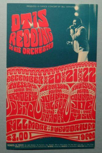 Original BG43 Postcard Otis Redding Grateful Dead, Fillmore 1966 Wes Wilson
