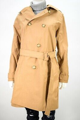 Abercrombie & Fitch size LARGE L Water Wind Resistant Trench Coat NEW NWT