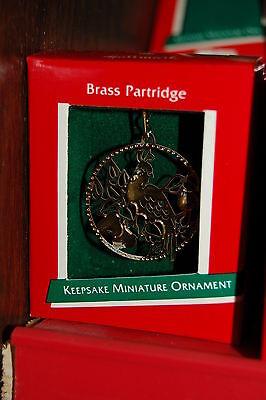 Hallmark 1989 Miniature Brass Partridge Bird MINI Ornament