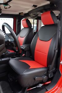 JEEP WRANGLER 2013-2018 IGGEE S.LEATHER CUSTOM FIT SEAT COVER 13COLORS AVAILABLE