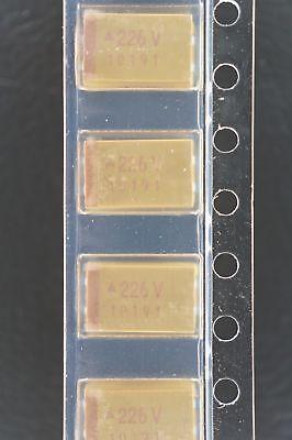 Lot Of 2 Tpsd226m035r0400 Avx Capacitor Tantalum 22uf 20 35v D Case 7343-31 Nos