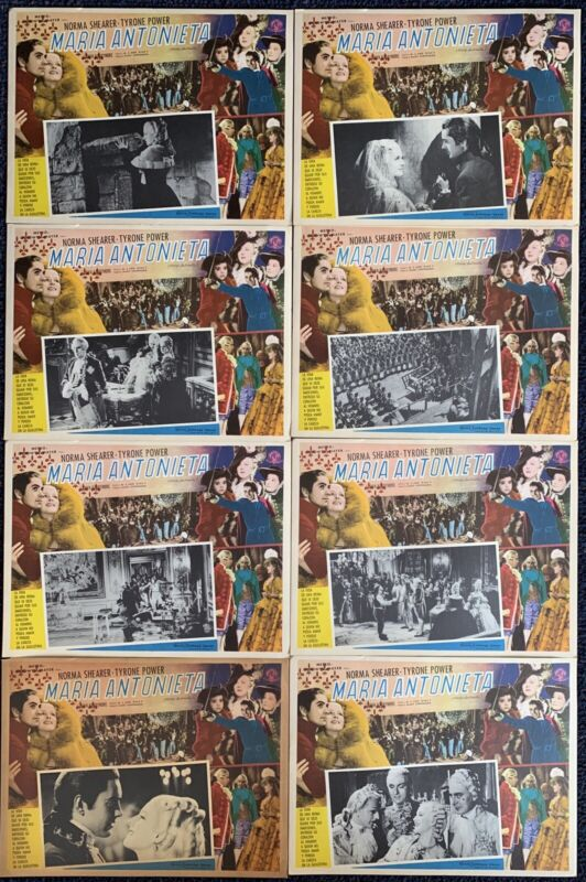 Marie Antoinette TYRONE POWER NORMA SHEARER Mexican Lobby Card SET 1938 UNUSED